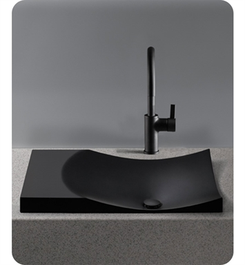 TOTO FLT142#80 Waza® Noir™ Cast Iron Self-Rimming Lavatory With Finish: Matte Black