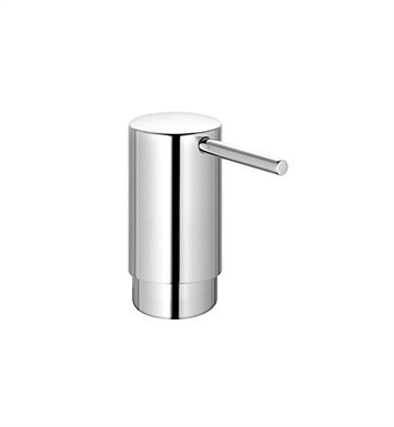 "Keuco 11649010101 Lotion Dispenser in Chrome With Dimensions: Size: W 1 7/8"" x H 3 3/4"" x D 4 1/8"""