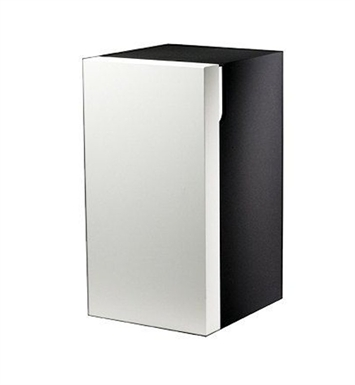 Keuco 30332399001 Edition 300 Modern Bathroom Cabinet With Configuration: Hinge: Left| Body Finish: Grey | Front Finish: Oak Veneer