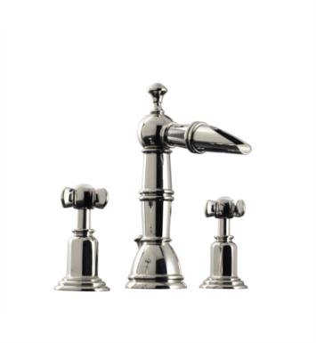 "Santec 6120ET80 Heritage II Widespread Lavatory with ET Handles (Includes 1/2"" Valves and 1-1/4"" Pop-Up Drain Assembly with Overflow) Spout CxC 4-7/16"", Height of Spout End from Base 7-7/8"" With Finish: Standard Pewter <strong>(USUALLY SHIPS IN 4-5 WEEKS)</strong>"