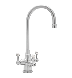 "Rohl U-1220-2 Perrin & Rowe® Traditional Etruscan 3-lever Bar-Food Prep Faucet With ""C"" Spout"