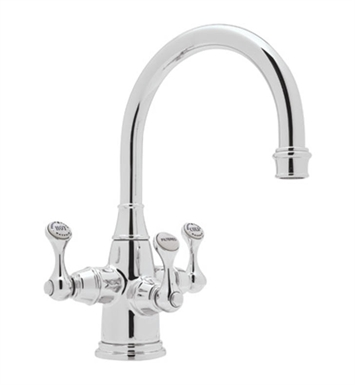 Rohl U-1320-2-APC Perrin & Rowe® Traditional 3-Lever Lavatory Faucet With Finish: Polished Chrome