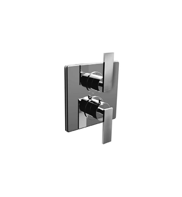 Santec 7097EM EM Style Dual Thermostatic Handle with Volume Control, Diverter & Trim Plate