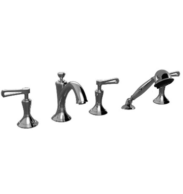 Santec 9555KR Klassica II Roman Tub Filler with Hand Held Shower and KR Style Handles