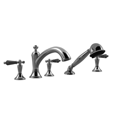 Santec Klassica Crystal 9555KT Roman Tub Filler with Hand Held Shower and KT Style Handles