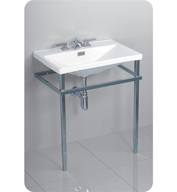 "TOTO LF930MCP.8#51 Lloyd® Metal Console Lavatory With Finish: Ebony <strong>(SPECIAL ORDER. USUALLY SHIPS IN 3-4 WEEKS)</strong> And Faucet Holes: Three Hole for 8"" Faucet Centers"