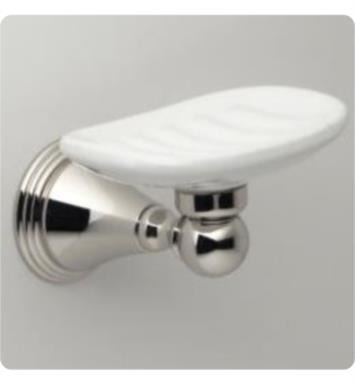 Santec 2268KU10 Porcelain Soap Dish With Finish: Polished Chrome <strong>(USUALLY SHIPS IN 2-3 WEEKS)</strong>