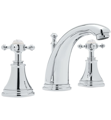 Rohl U-3713-2-IB Perrin & Rowe® Georgian Era 3-Hole High Neck C-Spout Widespread Faucet With Finish: Inca Brass <strong>(SPECIAL ORDER, NON-RETURNABLE)</strong>