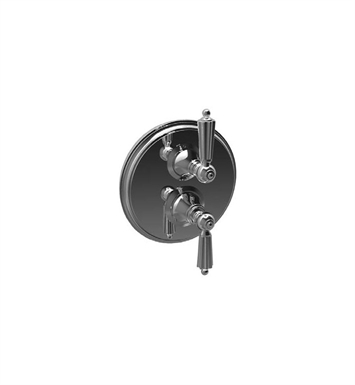 Santec 7097LL Monarch LL Style Dual Thermostatic Handle with Volume Control, Diverter & Trim Plate