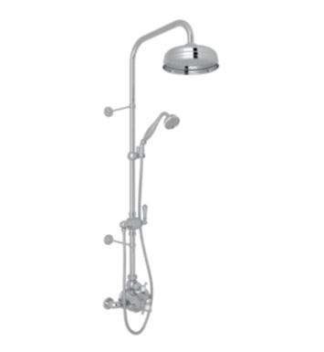 Rohl U.KIT61NLS-STN Georgian Era Thermostatic Shower Package with Single Function Showerhead With Finish: Satin Nickel And Handles: All Metal Handles