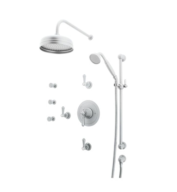 Rohl U.KIT67X-APC Perrin & Rowe Georgian Era Shower Package With Finish: Polished Chrome And Handles: Georgian Era Style Metal Cross Handles