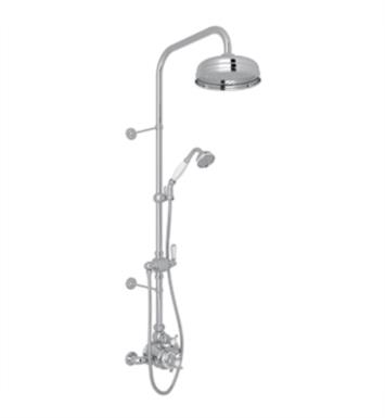 Rohl U.KIT1NL-PN Perrin and Rowe Edwardian Thermostatic Shower Package with Single Function Showerhead With Finish: Polished Nickel And Handles: Ornate Metal Levers
