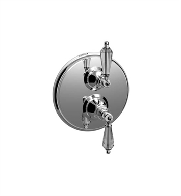 Santec 7097YC Lear Crystal YC Style Dual Thermostatic Handle with Volume Control & Trim Plate