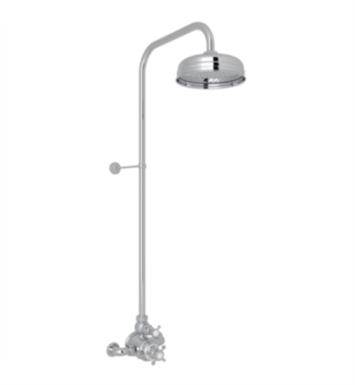 Rohl U.KIT2L-PN Perrin and Rowe Edwardian Exposed Shower Package with Single Function Showerhead             With Finish: Polished Nickel And Handles: Ornate Metal Levers