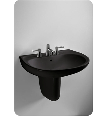 "TOTO LHT241.8#51 Supreme® Wall Mount Lavatory in Ebony Black With Finish: Ebony <strong>(SPECIAL ORDER. USUALLY SHIPS IN 3-4 WEEKS)</strong> And Faucet Holes: Three Hole for 8"" Faucet Centers"