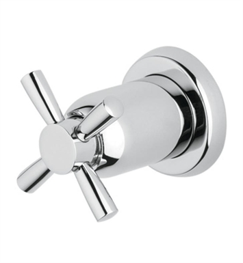 "Rohl U.3065-TO-STN Perrin & Rowe® 3/4"" Concealed Wall Valve Volume Ccontrol Trim with Cross Handle With Finish: Satin Nickel"