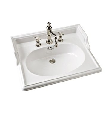 "Rohl U.2863 Perrin & Rowe® Victorian 25"" Widespread Pedestal Bathroom Sink"