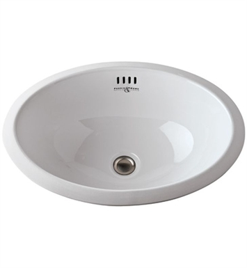 "Rohl U.2525WH Perrin & Rowe® 20"" Undermount Vitreous China Bathroom Sink"