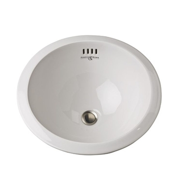 "Rohl U.2515 Perrin & Rowe® 20"" Round Undermount Bathroom Sink"