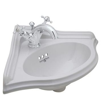 Rohl U.KIT29251 Perrin & Rowe® Corner Bathroom Sink with Double Handle Faucet and Drain Assembly