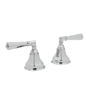 "Rohl A7922LM-PN Palladian Pair of 3/4"" Hot and Cold Sidevalves Only With Finish: Polished Nickel And Handles: Palladian Metal Lever Handles"