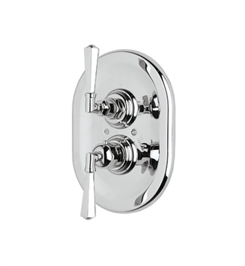 Rohl A4809XM-IB Palladian Thermostatic Shower Valve Trim (Trim Only) With Finish: Inca Brass <strong>(SPECIAL ORDER, NON-RETURNABLE)</strong> And Handles: Palladian Metal Cross Handles