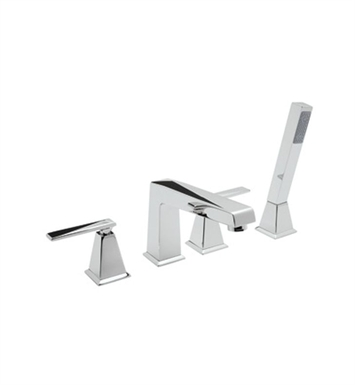 Rohl A1004LV-PN Vincent Widespread Roman Tub Faucet With Finish: Polished Nickel