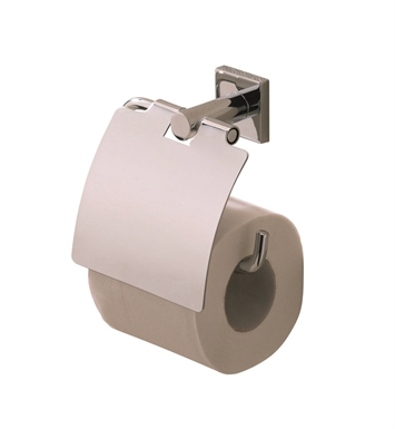 Valsan 67620 Braga Bathroom Toilet Paper Holder with Lid