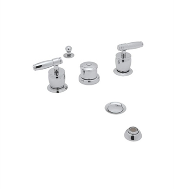 Rohl MB1947XM-PN Michael Berman Widespread Bidet Faucet with Diverter and Vacuum Breaker With Finish: Polished Nickel And Handles: Michael Berman Metal Cross Handles