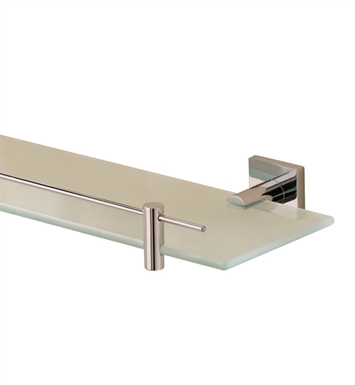 Valsan 67665NI Braga Bathroom Glass Shelf With Finish: Polished Nickel