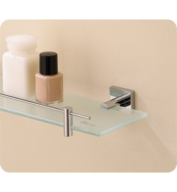Valsan 67686NI Braga Bathroom Glass Shelf With Finish: Polished Nickel