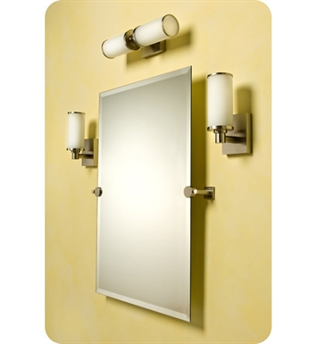 Valsan 67601NI Braga Bathroom Rectangular Tilt Mirror With Finish: Polished Nickel