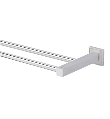 Valsan 67476 Cubis Plus Bathroom Double Towel Rail