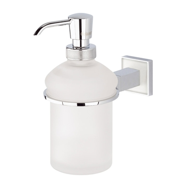 Valsan 67484ES Cubis Plus Bathroom Liquid Soap Dispenser With Finish: Satin Nickel