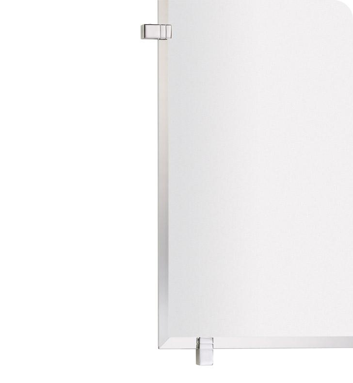 Valsan 664011 Cubis Plus Bathroom Rectangular Mirror With Fixing Caps