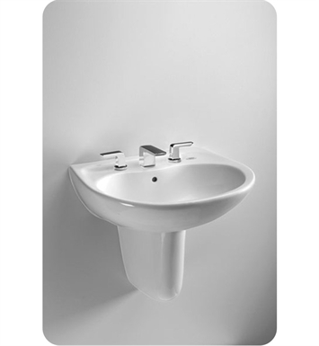 "TOTO LHT242G.8#11 Prominence® Wall Mount Lavatory - with SanaGloss® With Finish: Colonial White And Faucet Holes: Three Hole for 8"" Faucet Centers"