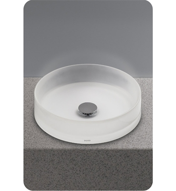 TOTO LLT150#61 Luminist™ Round Vessel Lavatory With Finish: Frosted White
