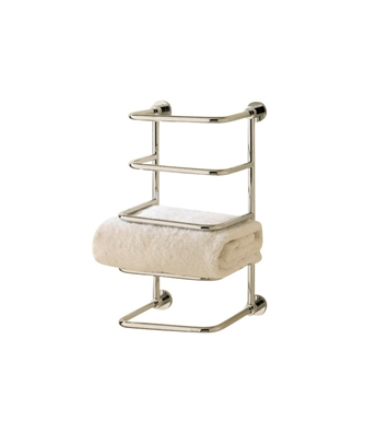 Valsan 57203NI Essentials Bathroom Towel Stacker With Finish: Polished Nickel