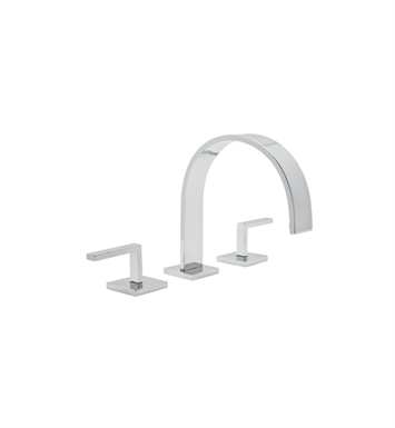 Rohl WA106L-2 Wave Widespread Bathroom Faucet with Pop-Up Drain