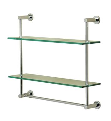 Valsan 57308cr Essentials Bathroom 2 Tier Shelf With Towel Bar With Finish Chrome