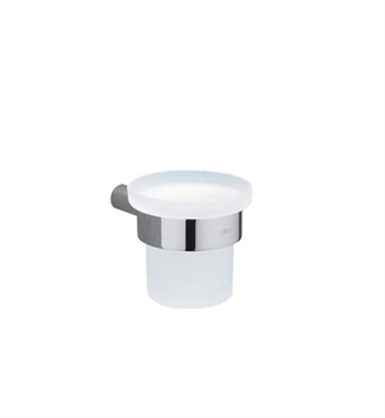 Rohl SY500 Modern Wall Mounted Tumbler Glass Holder with Frosted Glass Tumbler