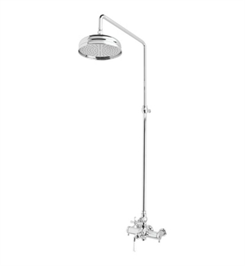 Rohl AKIT48174XM-APC Palladian Shower System with Riser With Finish: Polished Chrome And Handles: Palladian Metal Cross Handles