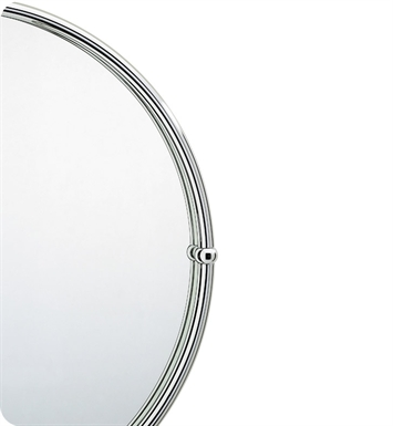 Valsan 66001ES Kingston Bathroom Round Mirror with Frame With Finish: Satin Nickel
