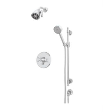 Rohl MBKIT34ELM-PN Michael Berman Pressure Balance Shower Package with Single Function Showerhead