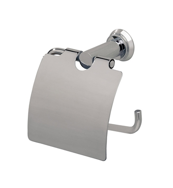 Valsan 67120CR Nova Toilet Paper Holder with Lid With Finish: Chrome