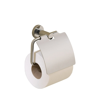 Valsan 67520NI Porto Toilet Paper Holder with Lid With Finish: Polished Nickel