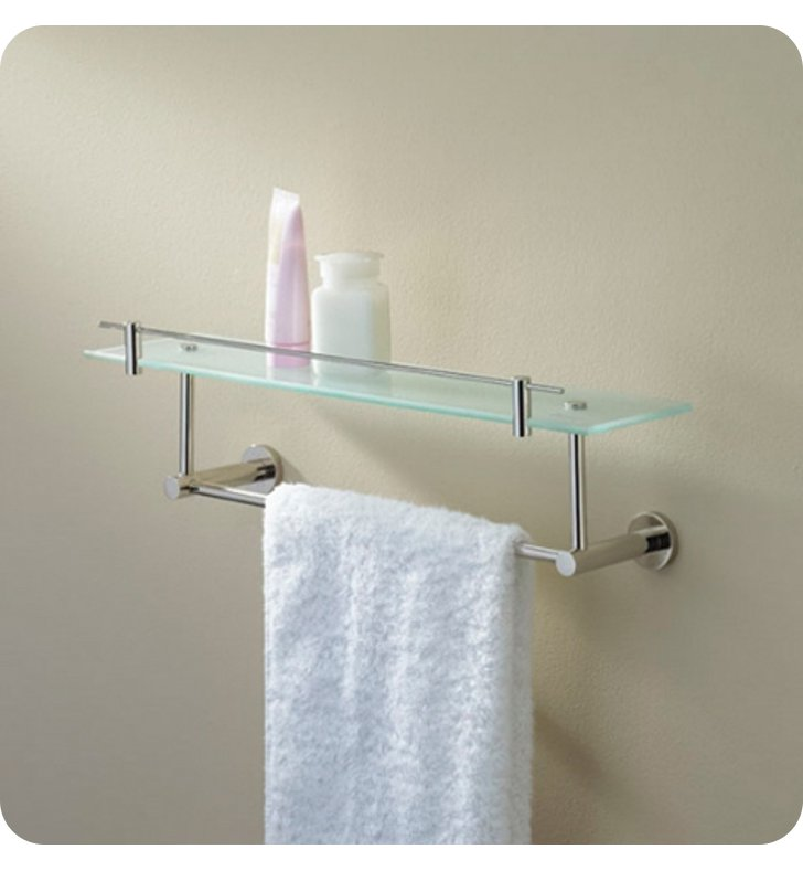 Valsan 675861 porto glass shelf with gallery rail and for Valsan bathrooms