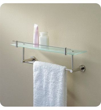 Valsan 675861 Porto Glass Shelf with Gallery Rail and Under Rail