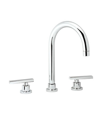 Rohl BA106-2L-STN Widespread Bathroom Faucet With Finish: Satin Nickel And Handles: Modern Architectural Metal Lever Handles