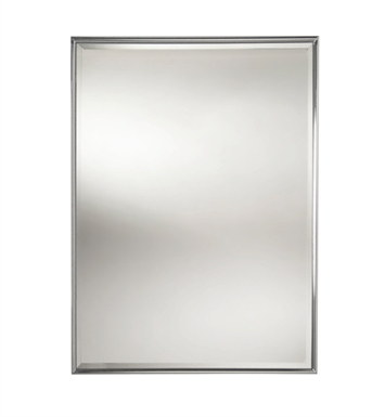 Valsan 53206CR Valdemar Dos Santos Bathroom Rectangular Framed Mirror with Bevel With Finish: Chrome